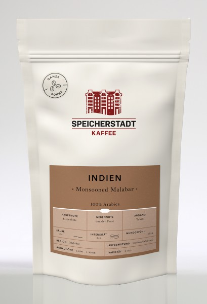 Speicherstadt Kaffee Indien Monsooned Malabar - 100% Arabica