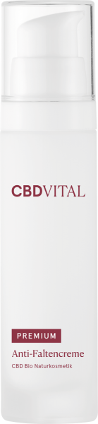 Anti-Faltencreme PREMIUM CBD Bio Naturkosmetik 50ml