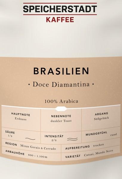 Speicherstadt Kaffee Brasilien Doce Diamantina - 100% Arabica 500 g